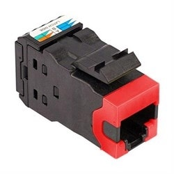 Category 6A U/UTP AMP-TWIST Modular Jacks, Red