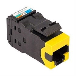 Category 6A U/UTP AMP-TWIST Modular Jacks, Yellow