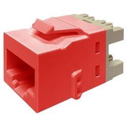 CAT 5E Modular Jack, KL Series, UTP 8W8P T568A/B, Red