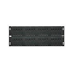 96-Port Panel 110-Mod 8W8P T568A/B Category 5E 110Connect Black 4U