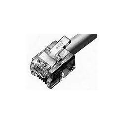 2Con 6Pos mod Plug pour 26 ou 28 AWG Stranded Wire 1000/Pk, RoHS