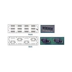 Category 3 Patch Panel, RJ21 (CHAMP Wiring), 48-Port, 8-Position (1-Pair) Wiring (Active Pins 4&5), 3U (5.25 in) x 19 in, Two RJ21
