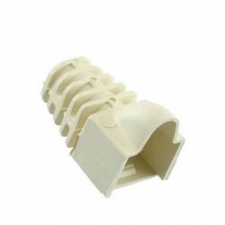 Modular Plug Boots for Category 3, 5 and 5e 8-Position Modular Plugs, Almond