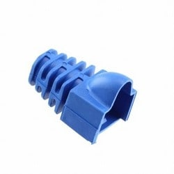 Modular Plug Boots for Category 3, 5 and 5e 8-Position Modular Plugs, Blue