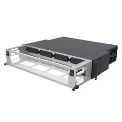 Tablette fixe modulaire Cassette 2U de haute densité, accepte (8) InstaPATCH 360 Modules ou panneaux FTU, fournissant jusqu'à 96 LC Duplex Ports ou jusqu'à 64 FTU Ports