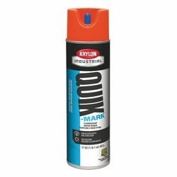 Quik-Mark Water-Based Inverted Marking Paint, Fluorescent Red/Orange