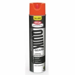 Quik-Mark Tallboy Solvent-Based Inverted Marking Paints, Fluorescent Red/Orange