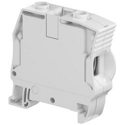 Feed-Through Terminal Block, Screw Clamp, 1000 Volt, 150 Ampere, 16 MM Width x 60.2 MM Depth x 63.6 MM Height, Polyamide Insulation, Gray
