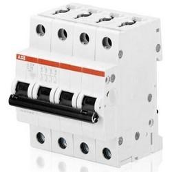 Miniature Circuit Breaker, Electro-Mechanic, 440 Volt AC, 12 Volt DC, 50/60 Hertz, 40 Ampere, 4-Pole, 6 Kiloampere Breaking Capacity, 70 MM Width x 69 MM Depth x 88 MM Height