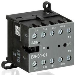 Mini contacteur, basse tension, 3-Pole, 3NO, 200 à 240 volts à 40/450 Hertz, 6 kilovolts, 52,5 MM longueur x 57,5 MM largeur x 46,5 MM hauteur