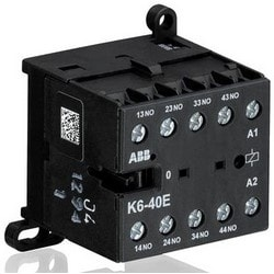 Mini Contactor Relay, 690 Volt Auxiliary/Insulation, 240 Volt Circuit, 4 Ampere at 240 Volt AC, 2.5 Ampere at 24 Volt DC, 4-Pole, 4NC