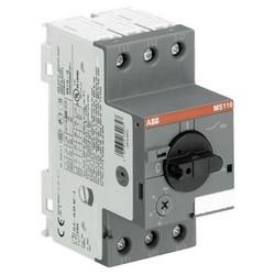 Manual Motor Starter, DIN Rail, Rotary Handle Actuator, ON/OFF Indication, 690 Volt AC, 0.63 Ampere, 0.18 Kilowatt, 50/60 Hertz, 3-Pole, IP20