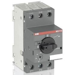Manual Motor Starter, DIN Rail, Rotary Handle Actuator, ON/OFF Indication, 690 Volt AC, 2.5 Ampere, 0.75 Kilowatt, 50/60 Hertz, 3-Pole, IP20