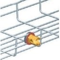Cable Tray Earthing Conductor Clamp, 16 MM Diameter x 22 MM Length, Copper, For Series SW Steel Wire Cable Tray