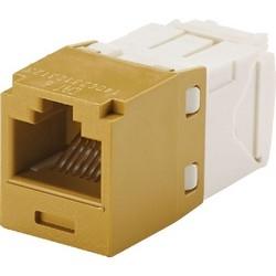 Module mini-com, Cat6a, UTP, 8 fil de Pos 8, Universal, or, Style TG
