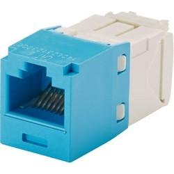 Mini-com Module, Cat6a, UTP, 8 Pos 8 Wire, Universal, Light Blue, TG Style