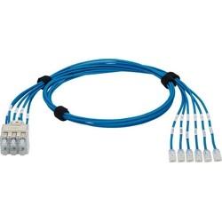 QN Rec fiche Pack Asmbly, Pack 6, IG Cat 6 a STP CM/LSZH câble/argent Plug Pack, 3m