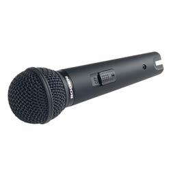Microphone à main, dynamique et unidirectionnel