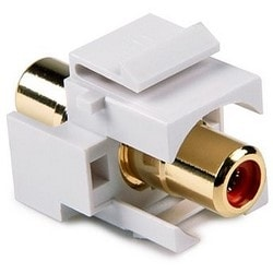 RCA Coupler Module With Red Stripe, White