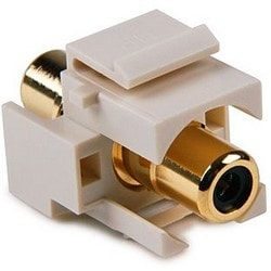 RCA Coupler Module With Black Stripe, Office White