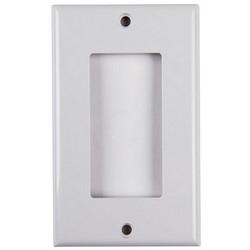 Rectangular Decorator Faceplate, ABS 94V-0, White