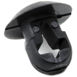 "Push-Button Mount, 0.25"" Hole Dia, 0.12"" Max Panel, 0.2"" Max Tie Width, PA66, Black"