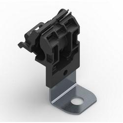 "Ratchet P Clamp, 0.24""-0.54"" Bundle Diameter, 90 Degrees, Short Length, 0.405"" Hole Diameter, PA66HIRHSUV, Blk, 300/carton"