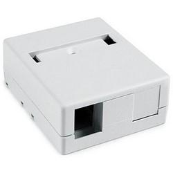 """Surface Mount Box, 2 Port, 2.32"""" x 1.10"""" x 2.78"""", PVC, White"""