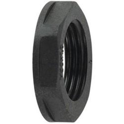 "HelaGuard Non-Metallic Locknut, NPT Thread, 0.75"" Dia, PA66, Black"