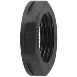 "HelaGuard Non-Metallic Locknut, NPT Thread, 1.00"" Dia, PA66, Black"