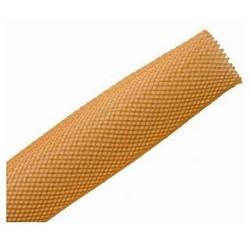 "Braided Sleeving, Expandable, 1"" Dia, PET, Orange"