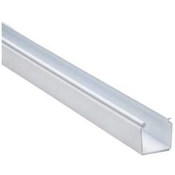 """Solid Cable and Wiring Duct, 1.5"""" x 1.5"""", Non-Adhesive, PVC, White"""