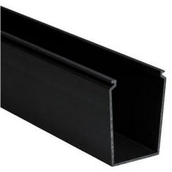 "Solid Cable and Wiring Duct, 2"" x 3"", Non-Adhesive, PVC, Black"