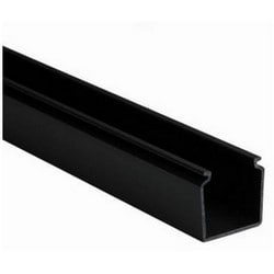 """Solid Cable and Wiring Duct, 1.5"""" x 1.5"""", Non-Adhesive, PVC, Black"""