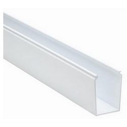 "Solid Cable and Wiring Duct, 2"" x 3"", Non-Adhesive, PVC, White"