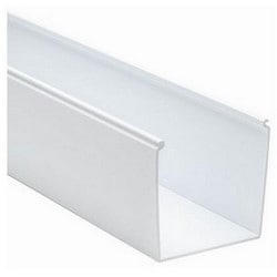 "Solid Cable and Wiring Duct, 4"" x 4"", Non-Adhesive, PVC, White"