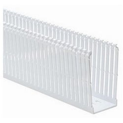 """Slotted Cable and Wiring Duct, High-Density, 2"""" x 4"""", Adhesive, PVC, White"""