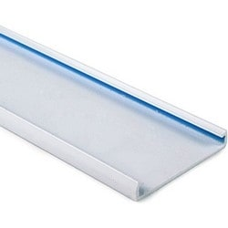 """Wiring Duct Cover for 4"""" Duct, 6 ft Long, PVC, Gray"""