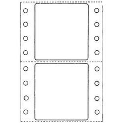 "Dot Matrix Label, 1.875' X 1.875"", 1 Across, Polyester, White, 5000/pkg"