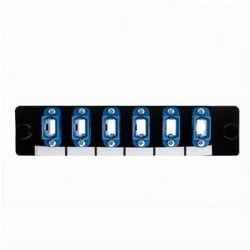 Adapter Panel Preloaded with 6 MTP SM, Blue