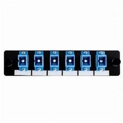 Fiber Adapter Panel Preloaded with 6 Simplex SC SM, Blue