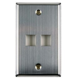 Flush Mount Faceplate 12 Port, Stainless Steel