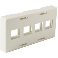 Modular Furniture Faceplate 4 Port, PVC, Office White