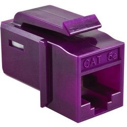 GST Category 5e UTP Modular Keystone Jack, Violet