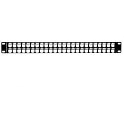 GST Modular Patch Panel 48 Port, 1U, Steel, Black