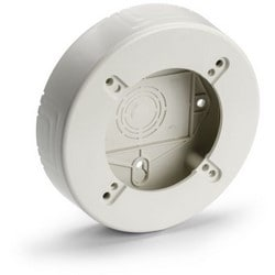 """Round Junction Box, 1.25"""" Deep, PVC, Office White"""