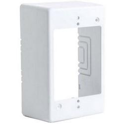 "Single-Gang Junction Box, 2.77"" Deep, PVC, White"