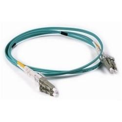 FT LC - LC Duplex OM3 Fiber Assembly, 2M, Aqua