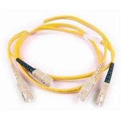 FT SC - SC Duplex OS2 Fiber Assembly, 2M, Yellow