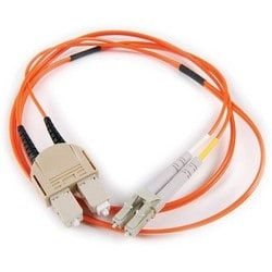FT LC - SC Duplex OM1 Fiber Assembly, 5M, Orange